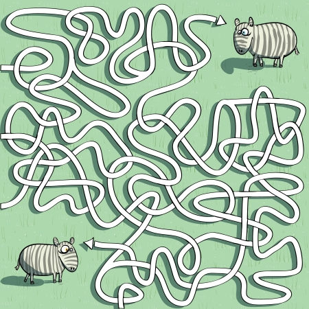 hand knot: Zebra Maze Game  Illustration