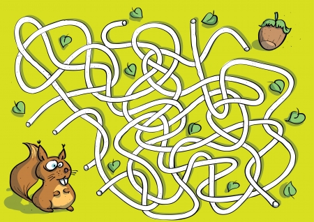 Squirrel Maze Game