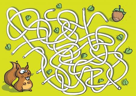 unterschiede: Squirrel Maze Game
