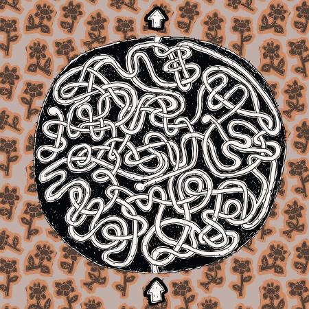mind games: Globe Maze Game (en patr�n floral) ... Tarea: Encontrar el camino correcto a trav�s de mundo!