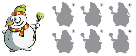 diversion: Find Right Mirror Image of Snowman ... solution No. 6
