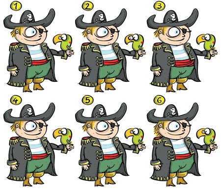 teaser: Pirates ... Match-up alike ... solution No. 1 and 5  Illustration