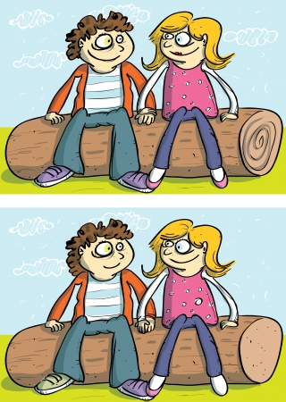 Love Couple ... 10 Differences ... solution in hidden layer  Vector