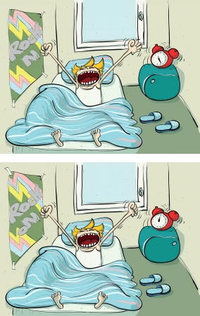 lazy: Waking up ... Find 10 Differences ... solution in hidden layer