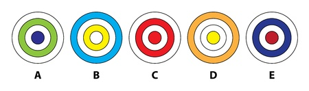 which one: 5 CIRCLES MIND GAME: Which of the five circles does not fit in? Answer: D  Illustration