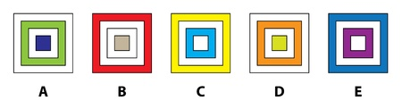 5 SQUARES MIND GAME: Which of the five squares does not fit in? Answer: B