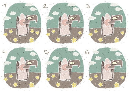 teaser: Vulture Puzzle     Task  Find two images that are alike   match pairs ; Answer  No  2 and 3