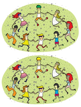 Dance Mind Game for Children     Task  Find 10 Differences      Solution is in hidden layer   Vector
