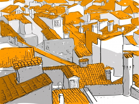 Old City Rooftops Stock Vector - 17141302