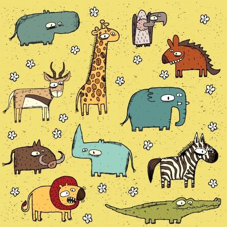 グランジのアフリカ動物のコレクションなし 1