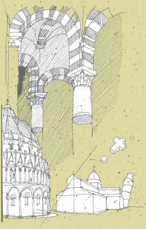 Sketching Historical Architecture in Italy: Pisa  Vector