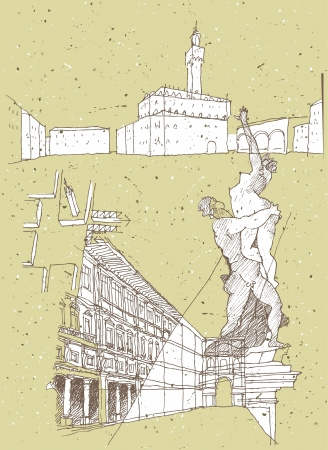 antic: Sketching Historical Architecture in Italy: Old Palace