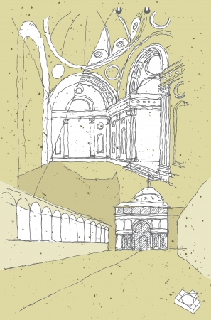 church interior: Sketching Historical Architecture in Italy