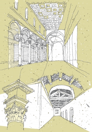 Sketching Historical Architecture in Italy  Vector