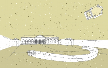 memorable: Sketching Historical Architecture in Italy  Palace Te, Mantua Illustration