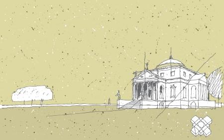 rotunda: Sketching Historical Architecture in Italy  Villa Rotunda