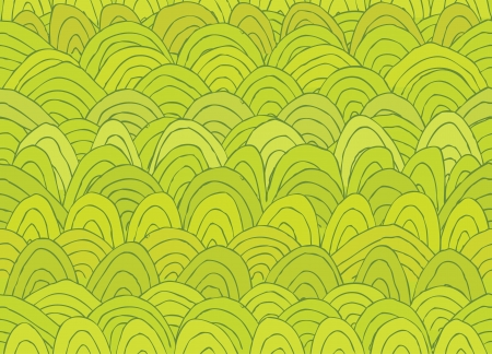 Illustration of Fairy Landscape Seamless Pattern in Spring  green   Illustration