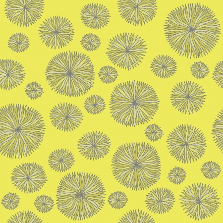 Vintage Flower Pattern   seamless repeated texture in yellow  Vector
