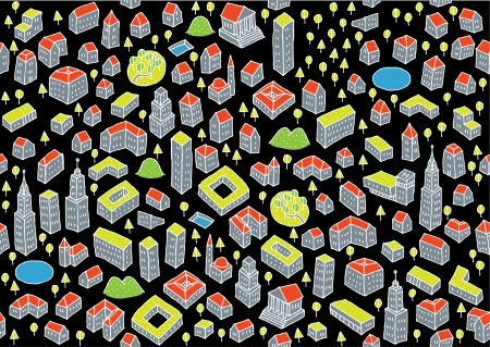 Architecture Set  Seamless pattern and collection of small architectural icons Stock Vector - 17142612