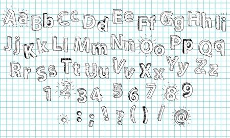 grammar: 3D hand drawn Alphabet