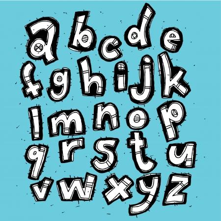 Hand drawn Trendy Font Stock Vector - 17188070