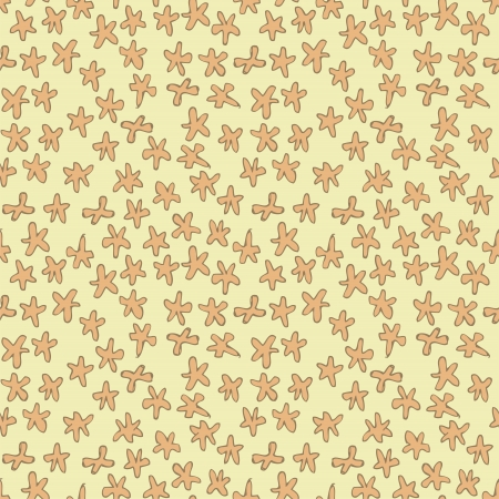 repetitive: Floral Seamless Pattern (repetitive) on beige background.
