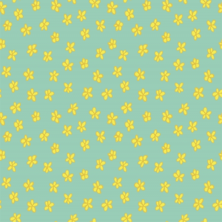 repetitive: Floral Seamless Pattern (repetitive) on blue background.