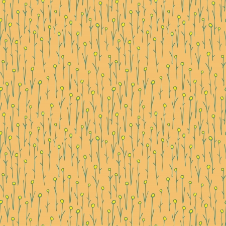 repetitive: Floral Field Seamless Pattern (repetitive) on yellow background.  Illustration