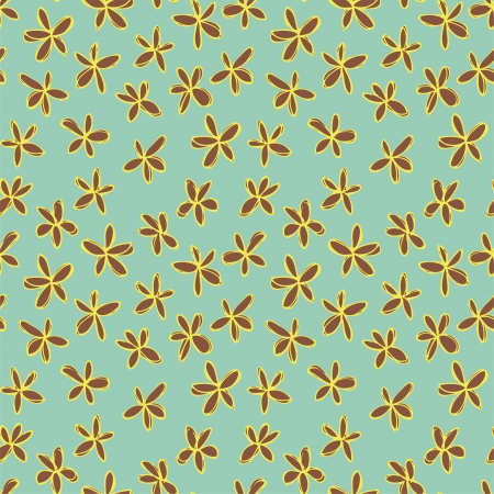 Floral Seamless Pattern (repetitive) on blue background.   Stock Vector - 19574489