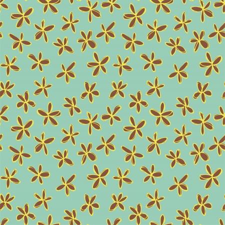 r�p�titif: Seamless floral (r�p�tition) sur fond bleu. Illustration