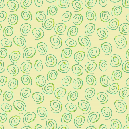 repetitive: Spiral Seamless Pattern (repetitive) on beige background.