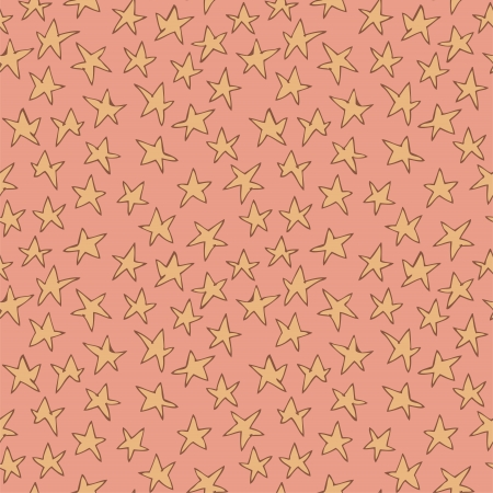 repetitive: Stars Seamless Pattern (repetitive) on pink background.