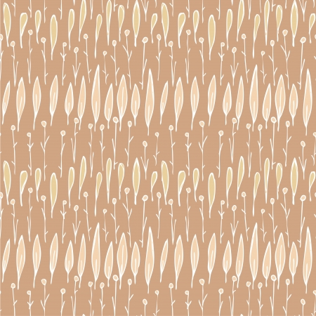 Grass Seamless Strip Pattern  repetitive  on brown background   Vector