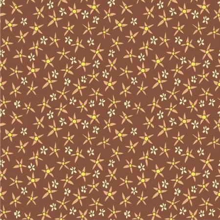 r�p�titif: Floral seamless pattern r?p?titif sur fond rouge fonc? Illustration