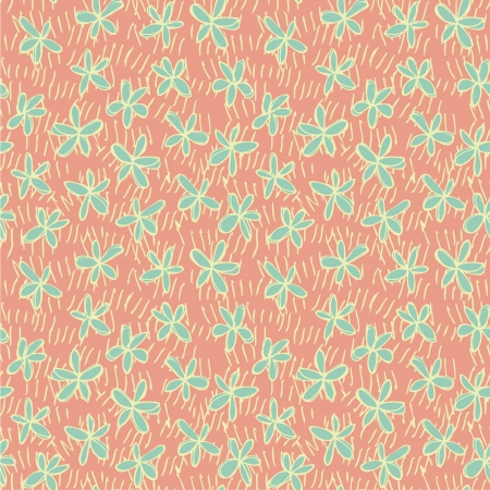 Floral Seamless Pattern  repetitive  on pink background  Illustration is in eps8 vector mode Stock Vector - 20184968