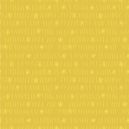 Floral Field Seamless Pattern  repetitive  on yellow background   Stock Vector - 20184927