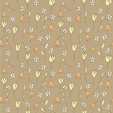 r�p�titif: Champ Floral Seamless r�p�titif sur fond gris