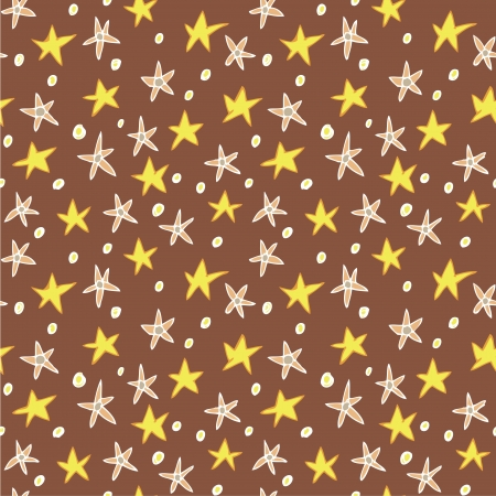 Floral Stars Seamless Pattern  repetitive  on red background  Stock Vector - 20184878