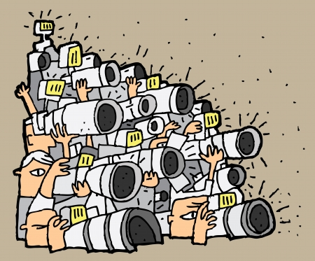 no1: Paparazzi cartoon No.1. Illustration is in eps8 vector mode. Illustration