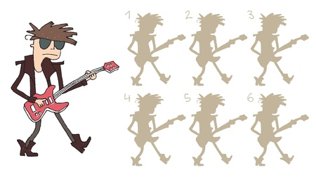 Guitar Player Shadows Vector