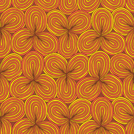 Clover seamless pattern in colors is hand drawn composition.