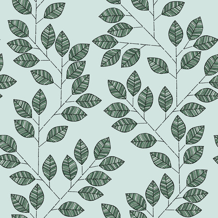 Branch seamless pattern in colors is hand drawn composition.  Vector