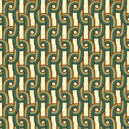 Knitted seamless pattern in colors is hand drawn composition.  Vector