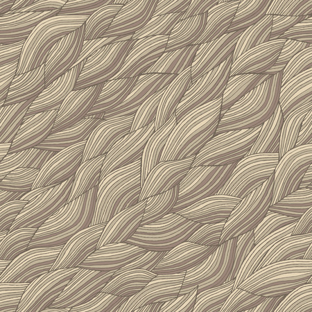 Waves seamless pattern in colors is hand drawn nature-like composition.  Vector