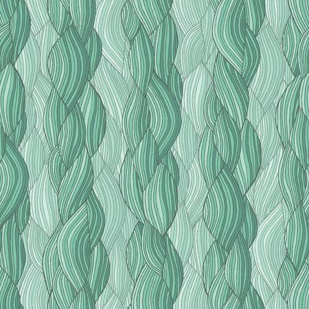 textura pelo: Trenza de cabello de patrón sin costuras en colores es dibujado a mano composición análoga naturaleza.