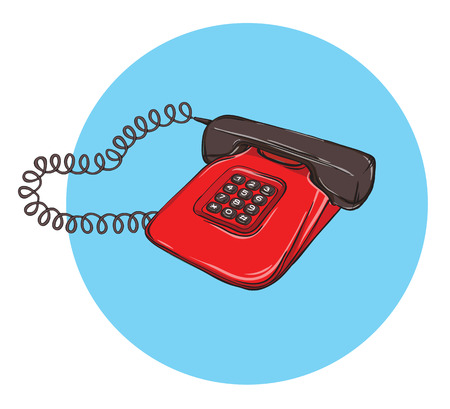 vintage telephone: Vintage Telephone No.8, handset on. Illustration is in eps10 vector mode. Illustration