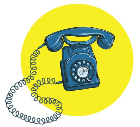 Vintage Telephone No.5, handset on. Illustration is in eps10 vector mode. 向量圖像