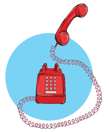 vintage telephone: Vintage Telephone No.9, handset up. Illustration is in eps10 vector mode.