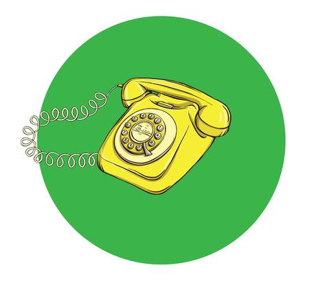 Vintage Telephone No.6, handset on. Illustration is in eps10 vector mode. 向量圖像