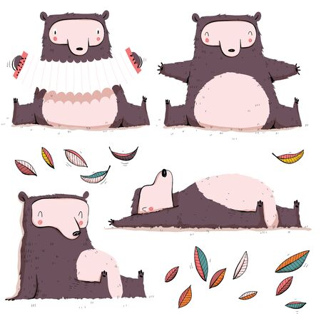 Collection of cute bears. Cartoon set. EPS10 vector file.